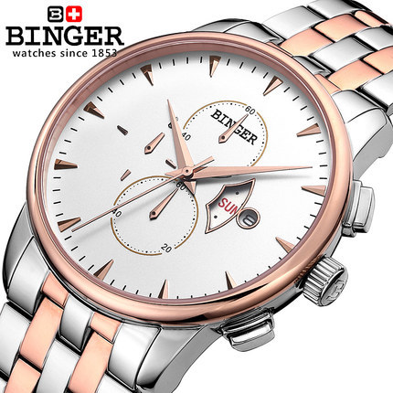 2017 Brand Men military Wristwatch Fashion Clock Men Quartz man sports watches Casual Full Steel Binger Watch Geneva Relogio new listing men watch luxury brand watches quartz clock fashion leather belts watch cheap sports wristwatch relogio male gift