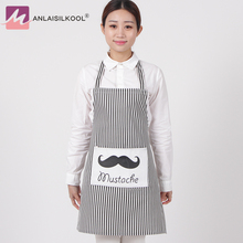 Fashion Linen Stripe Apron with Pockets Cafe Waiter Kitchen Cook Household Cleaning Tools Kitchen Apron 2017 Free Shipping