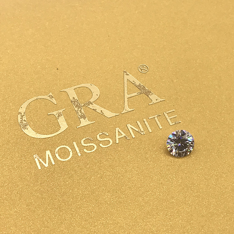 Loose Moissanite 1.0ct Carat 6.5mm IJ Color Round Brilliant Excellent Cut Jewelry Bracelet  Diamond Ring Material