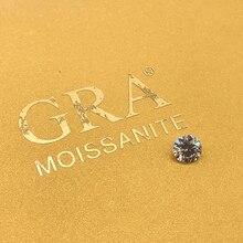 Loose Moissanite 1.0ct Carat 6.5mm IJ Color Round Brilliant Excellent Cut jewelry bracelet  diamond ring material