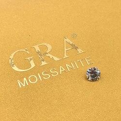 Serbest moissanit 1.0ct karat 6.5mm IJ renk yuvarlak parlak mükemmel kesim takı bilezik elmas halka malzemesi