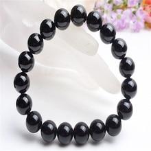 8mm 10mm 14mm 12mm Brazil Natural Stone Black Tourmaline AAAA Stretch Bracelets For Women Men Round Bead Bracelet