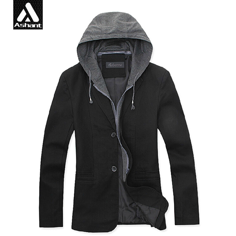 Mens blazer with hoodie