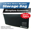 Free Shipping!! 3pcs/lots High Quality Handheld Microphone Storage Bag Fits For Sennheiser e822 e828 e835 e845 e935 935gold e945