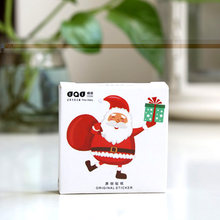 48 Paper Stickers/lot Japanese Kawaii Label Stickers Christmas Series Santa Clause Decorative DIY Packing Sealing Stickers(China)