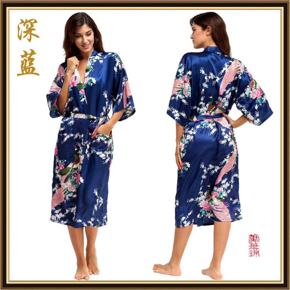 Women Silk Rayon Pijama Long Nightgown