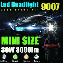 9007 HB5 СВЕТОДИОДНЫЕ Фары Комплект 60 Вт 6000lm eadlight Двойной Луч Высокой низкий СВЕТОДИОДНЫЕ Комплект 6000 К Супер Белый Заменить Галогенные Авто HID лампы