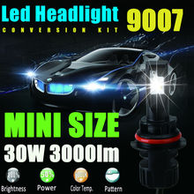 9007 HB5 LED Headlight Kit 60w 6000lm eadlight Dual Beam High Low LED Kit 6000K Super White Replace for Halogen Auto HID Bulbs