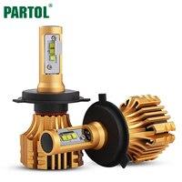 Partol S6 H4 9003 HB2 Car LED Headlight Bulbs 70W 7000LM Hi Lo Beam LED H4