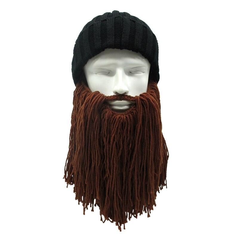 Hot Wig Beard Hats Vikings Mad Scientist Caveman Handmade Knit Warm Winter Caps Men Women Halloween Gifts Funny Party Beanies bomhcs funny wigs beard handmade knitting hats wanderers cap helloween party gifts