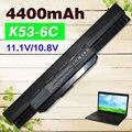 4400 mah batería para asus a43 a53 a53s a53z a53sv a53sv k43 k43e K43J K43S K43SV K53 K53E K53F K53J K53S K53SV K53T K53U A32-K53