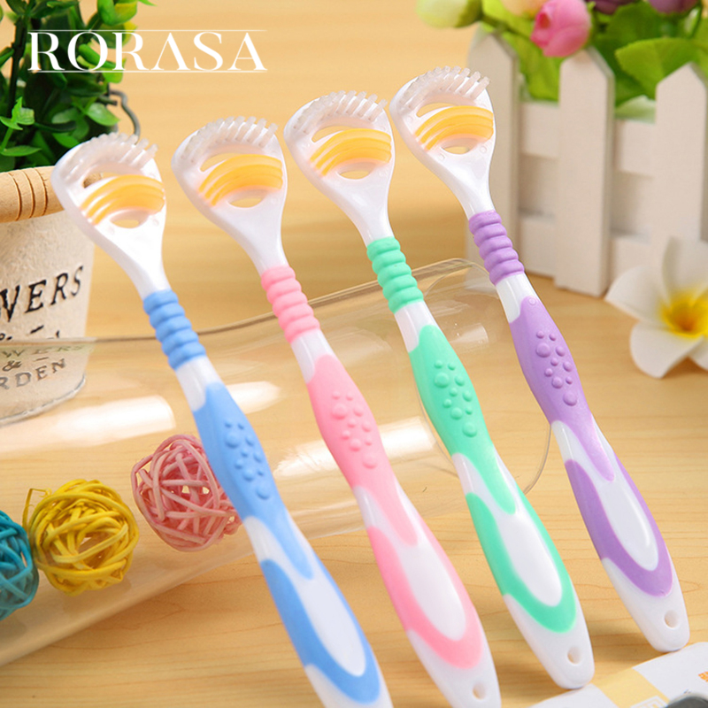 2PCS Dual Side Dental Care Cleaner Brush Scraper Oral Tongue Clean Breath Health Tool For Adults Multi Color Clean Tongue Tools