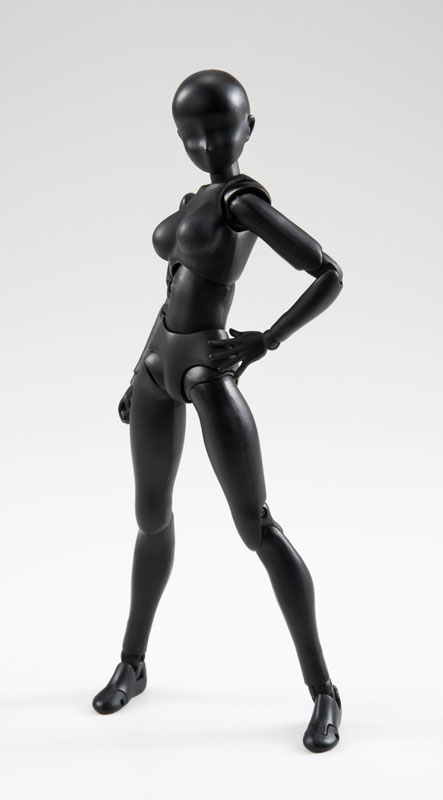 Original BANDAI Tamashii Nations S.H.Figuarts / SHF Action Figure - Body-chan (Solid black Color Ver.)
