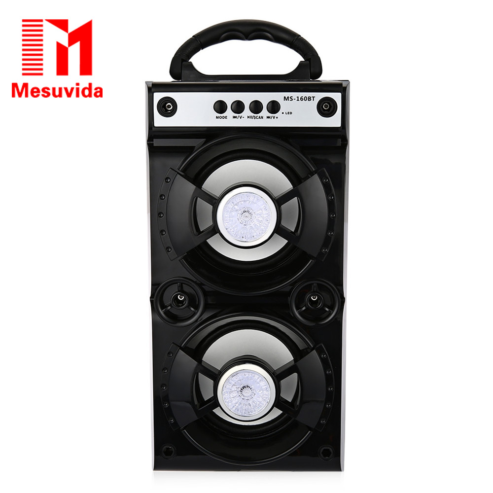 Mesuvida MS-160BT / MS-161BT Wireless Bluetooth Speaker 600mAh High Power Output FM Radio Music Player for MP3 TF/Micro SD