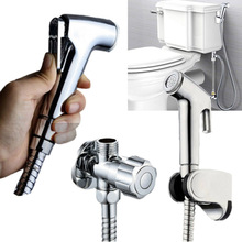 Angle valve Toilet Sprayer Accessories Easy Install Removable Bathroom Bracket ABS Bidet Shower Kits Convenient Useful