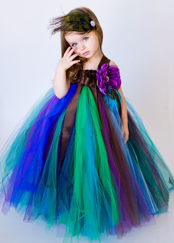ФОТО Christmas Costumes for girls Mesh Bunny dresses Ballet dance Girls clothes Performing Peacock Princess dress Children clothing