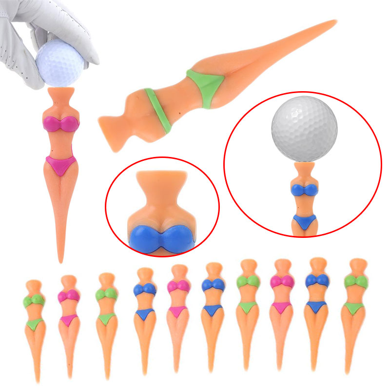 1pc Golf Nail Ball Seat Divot Tools Golf Accessories Tee Bikini Lady Girl Plastic Funny High Quality Christmas Gifts