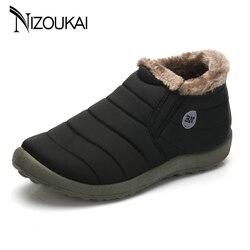 Мужская зимняя обувь зимние сапоги для Для мужчин Водонепроницаемый Потепления ткань Slip-on ботильоны мужская зимняя Уличная обувь плюс разм...