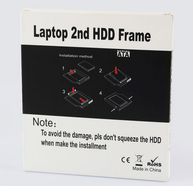 Free ship ,laptop hdd frame,12.7MM universal drive hard drive bracket for laptop