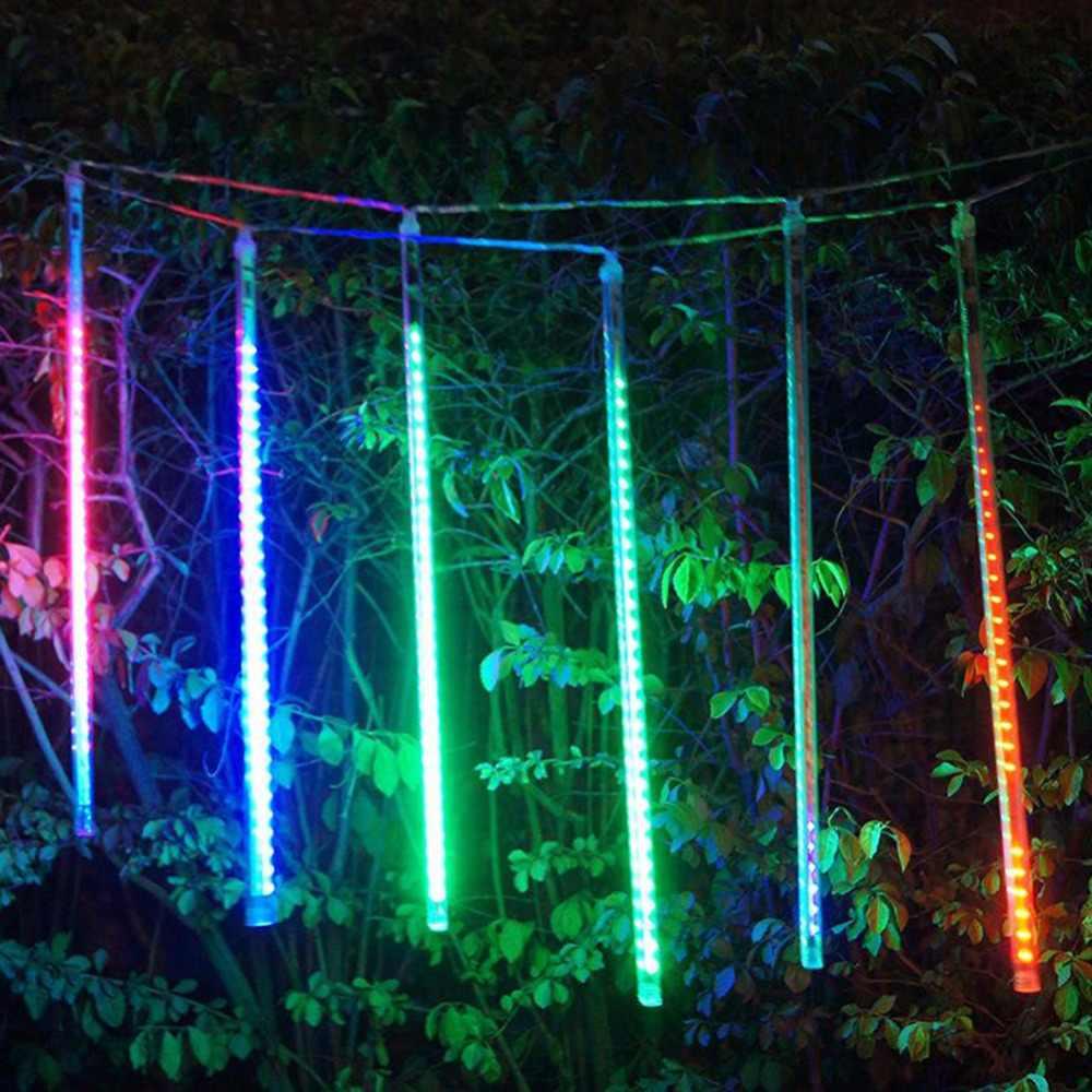 Водонепроницаемый 50 см 8 пробки Светодиодный лампочки Открытый Сад Гирлянда из лампочек для рождества праздника свадьбы партии декора дерева