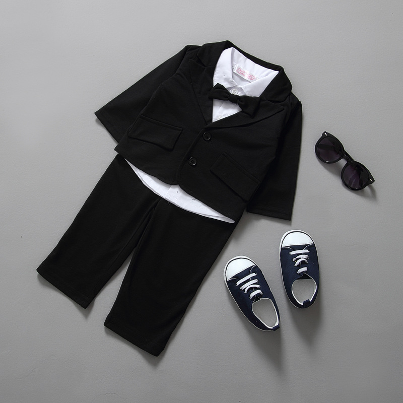 Baby Boy Clothes  Boy Infant Wedding Formal Gentleman Suit Baby Baptism Clothes 1 Year Birthday Party Clothes Suit