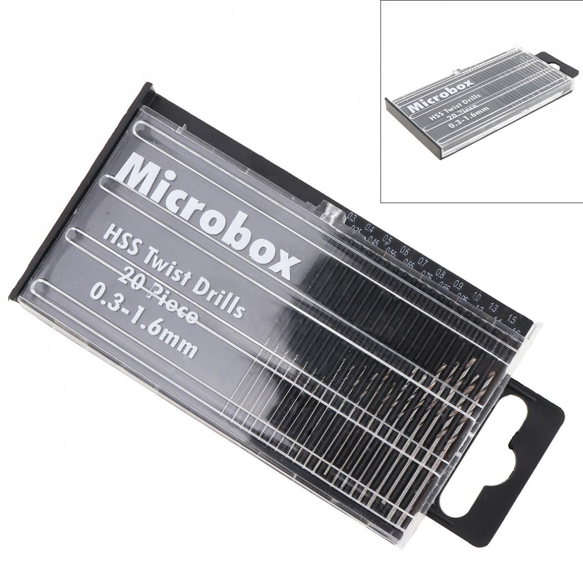 20pcs/lot Mini Small HSS Precision Twist Drills Bit Craft Hobby 0.3-1.6mm For Wood / Plastic Products / Circuit Boards