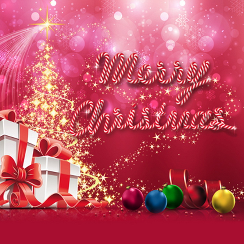 Merry Christmas Photography Backdrops Surprise Gifts Colored Ball Halo  Holiday Stage Background fond photographie 5\u0027*6.5*