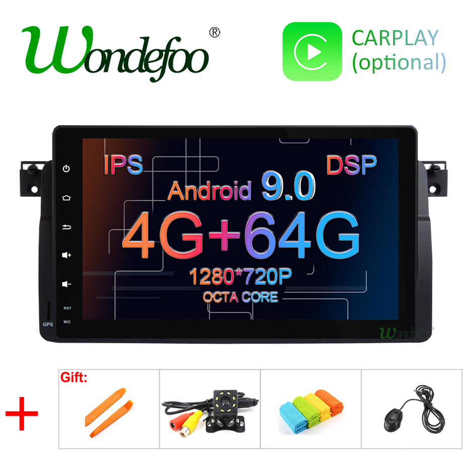 9 IPS 4G DSP Android 9 0 4G 64G car GPS for BMW E46 Sedan Rover