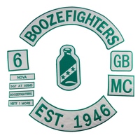 Bozze Fighters Clothes Patch Embroidery Badge DIY Apparel Accessories Arts Crafts Sewing Fabric Iron On Patches For Clothing