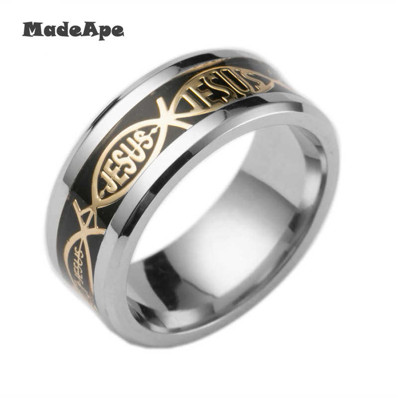 Madape anéis de casamento tamanho grande, 8mm, luminosos, para mulheres, aço inoxidável, fluorescente, brilhante, anéis para mulheres, acessórios de casamento