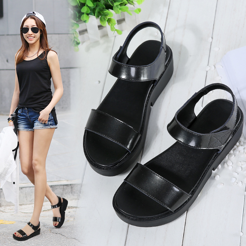 4171G new women's sandals thick-soled sandals women's leather increased ladies sandals cross-border 2