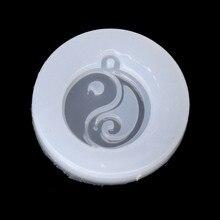 Molde de silicone diy estilo chinês ta-chi jade, pingente de budismo, resina, molde, joias