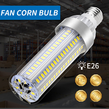 Lampara Led E27 Corn Bulb 220V LED Lamp 5730 High Power Lighting E26 25W 35W 50W Led Bulb Aluminum Fan Cooling No Flicker 110V цена