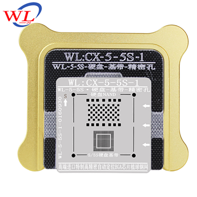 WL Best for iphone 5 5s 6 6s 7 Plus NAND processor BGA reball Tin Net HDD Baseband Stencil Great Repairing Base Tool wavelets processor