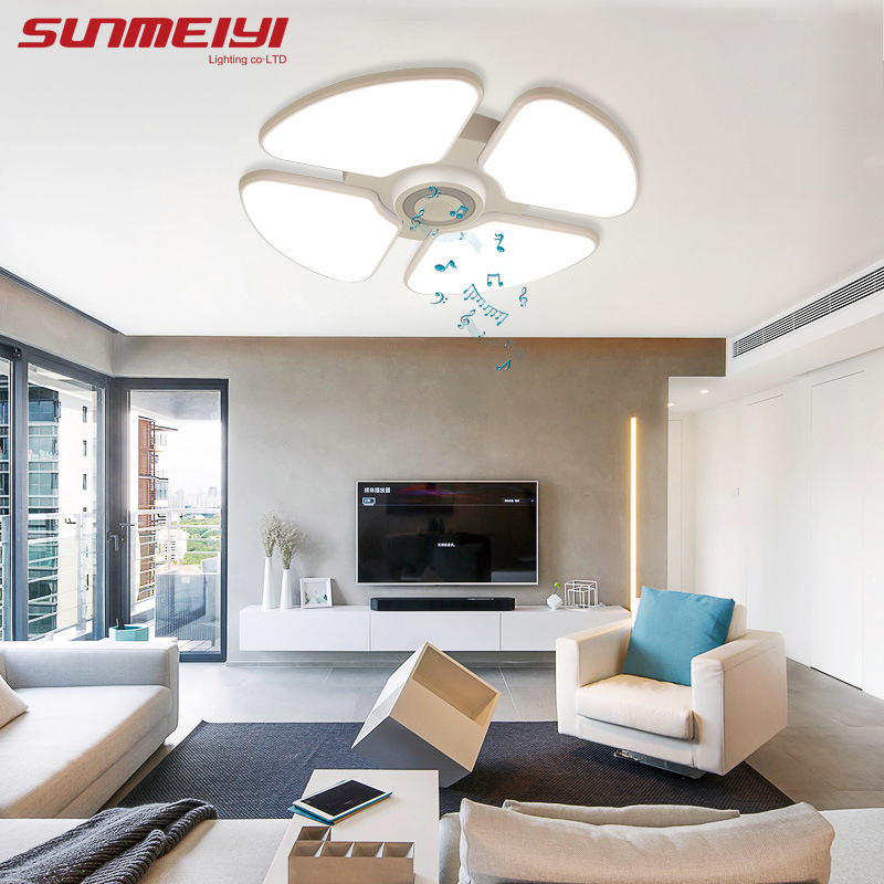 Smart App Dimmable LED Ceiling Lights For Bedroom Dining room Kitchen Bluetooth Music White Ceiling Lamp Indoor Lighting in Ceiling Lights from Lights Lighting