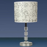 Clearance rustic cloth clouds crystal table lamp bedroom living room lamp bedside lamp dimmable
