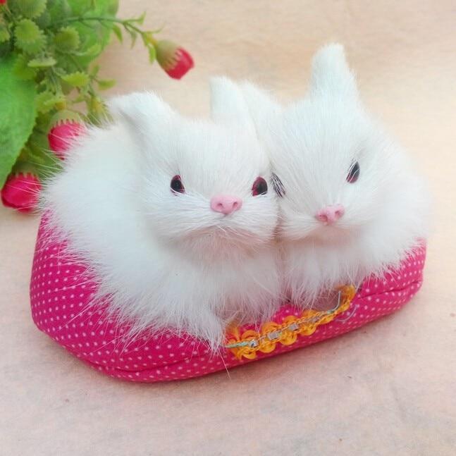 Genuine Mini Miss Rabbit Toy Cony Fur Hand made Artificial Rabbit