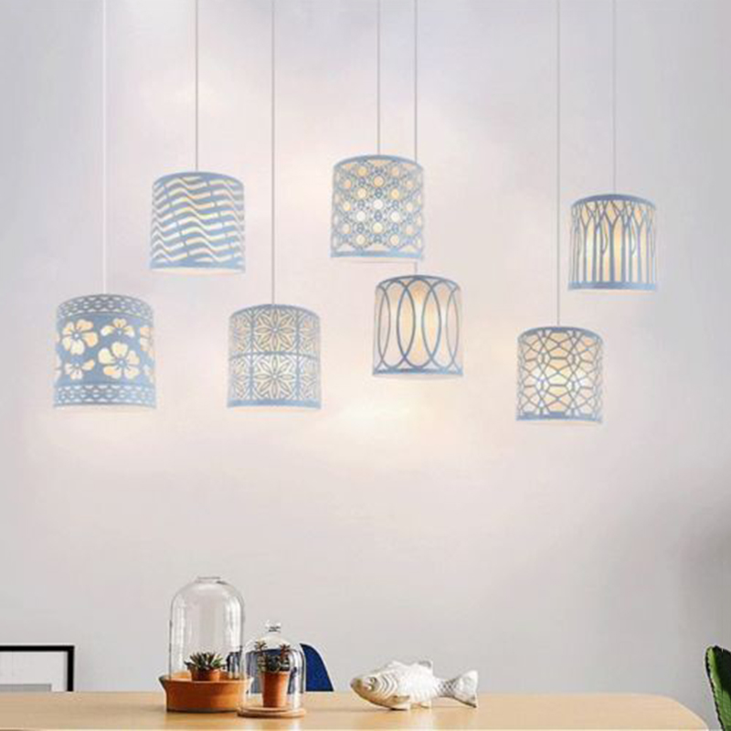 2019 White Nordic Metal Floral  Iron Ceiling Pendant Light Lampshade Home Lighting Supplies Dining Room Lampshade Decoration