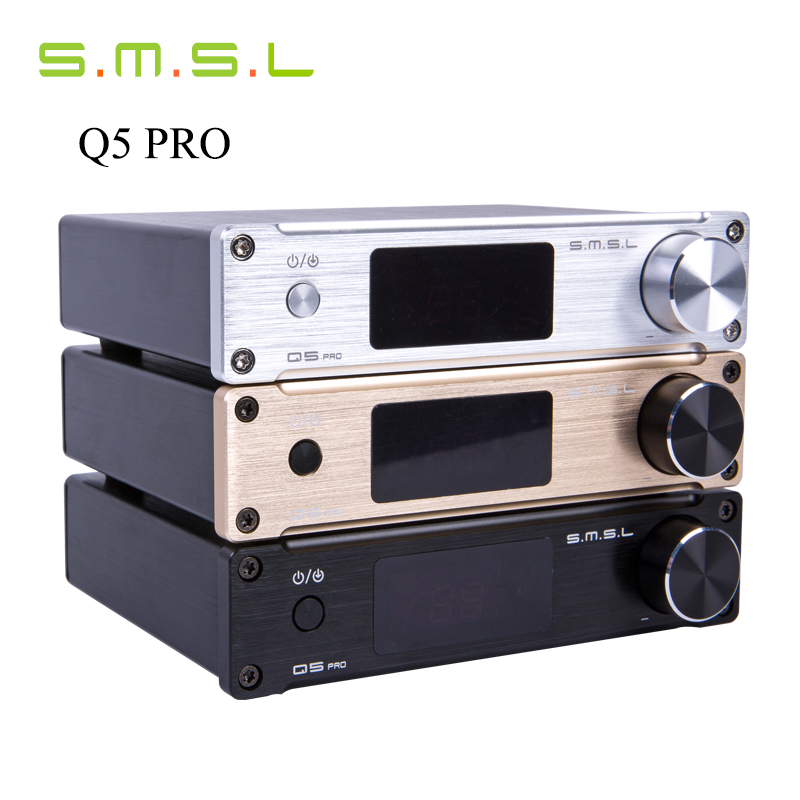 Digital Amplifiers SMSL Q5 Pro Mini Audio Power Pure AMP 45W*2 HiFi 2.0 24bit/96kHz USB /Optical/Coaxial With Remote Control стоимость