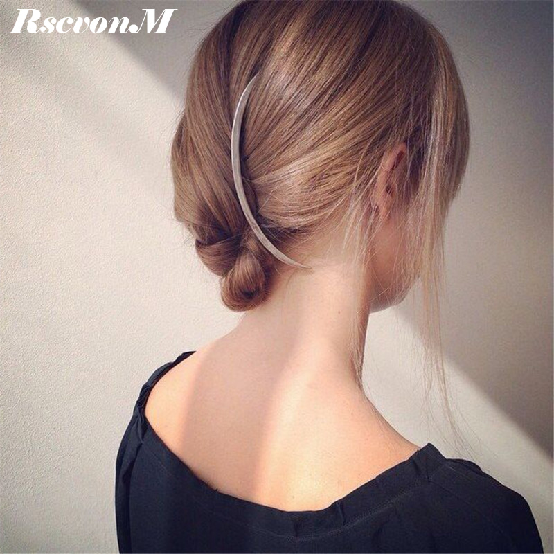 RscvonM Fashion Girls Silver Colour Hair Clip Women Metal Branch Leaves Hairpin Bobby Pin Hair Clip Accessories Drop Shipping ...
