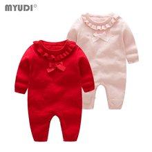 Myudi свитер для новорожденных девочек Милый хлопковый трикотажный
