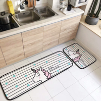 Waterproof And Anti Slip Bath Mat 2PCS Bathroom Rug Set Cartoon Mat For Kitchen Indoor Mat