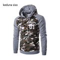 Men's Spring Autumn Camouflage Splicing Sleeve Sweatshirts Hoodies assassins creed pullover Hoodie Casual Homme homens moletom
