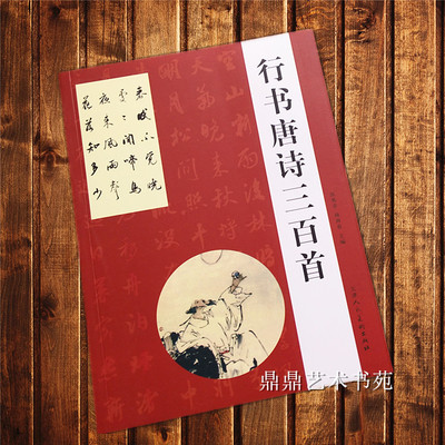 Chinese Brush Calligraphy Copybook For Start Learners - Three Hundred Tang Poems (Xing Shu)