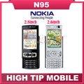 N95, nokia desbloqueado GSM 3 G teléfono móvil 2.6 pulgadas o 2.8 pulgadas ( 8 gb de memoria interna ) cuatribanda 5MP WIFI GPS