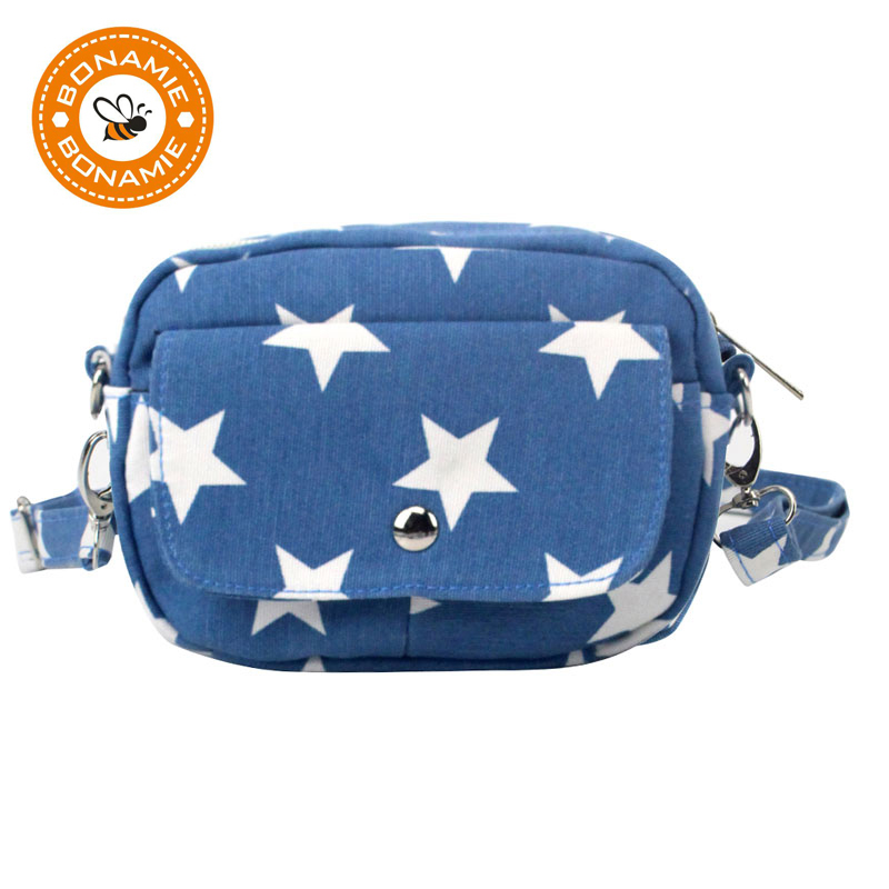 BONAMIE Wanita Canvas Crossbody Bag Lady Messenger Bag Handbag Perempuan Fesyen Star Shoulder Purse Diagonal Portable Bag Wholesale