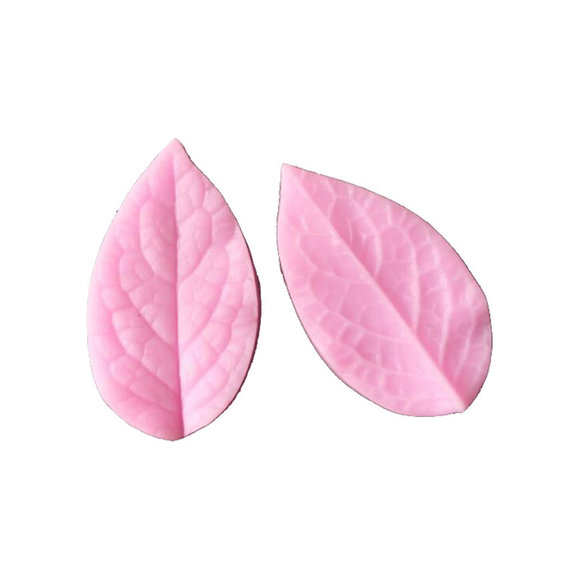 2pcs/set Silicone Mold Flower Leaf Clay Making Petal Veiner Double Side 3D Print polymer clay molds