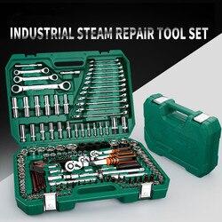 150PC narzędzia do naprawy samochodu mechanik narzędzia zestaw klucz nasadowy narzędzia do Auto klucz zapadkowy śrubokręt zestaw gniazd klucz sześciokątny w Zestawy narzędzi ręcznych od Narzędzia na