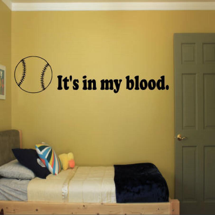 YOYOYU Wall Sticker It Is In My Blood Wall Decor Removeable Bedroom ...