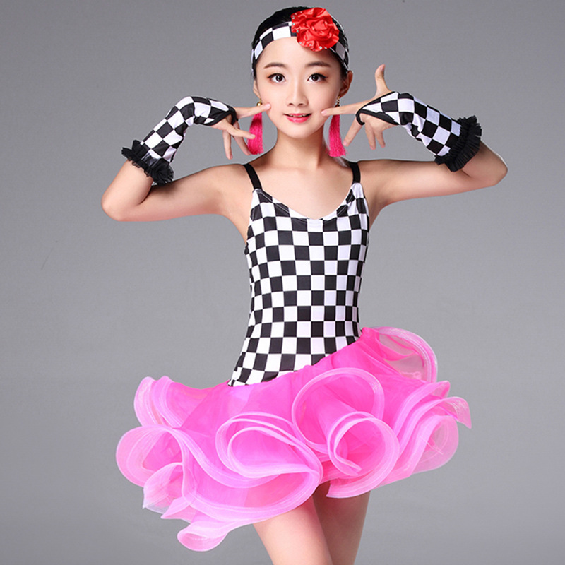 child children professional latin dance dress for girls Modern Waltz tango Cha Cha kids ballroom competition Fancy dresses